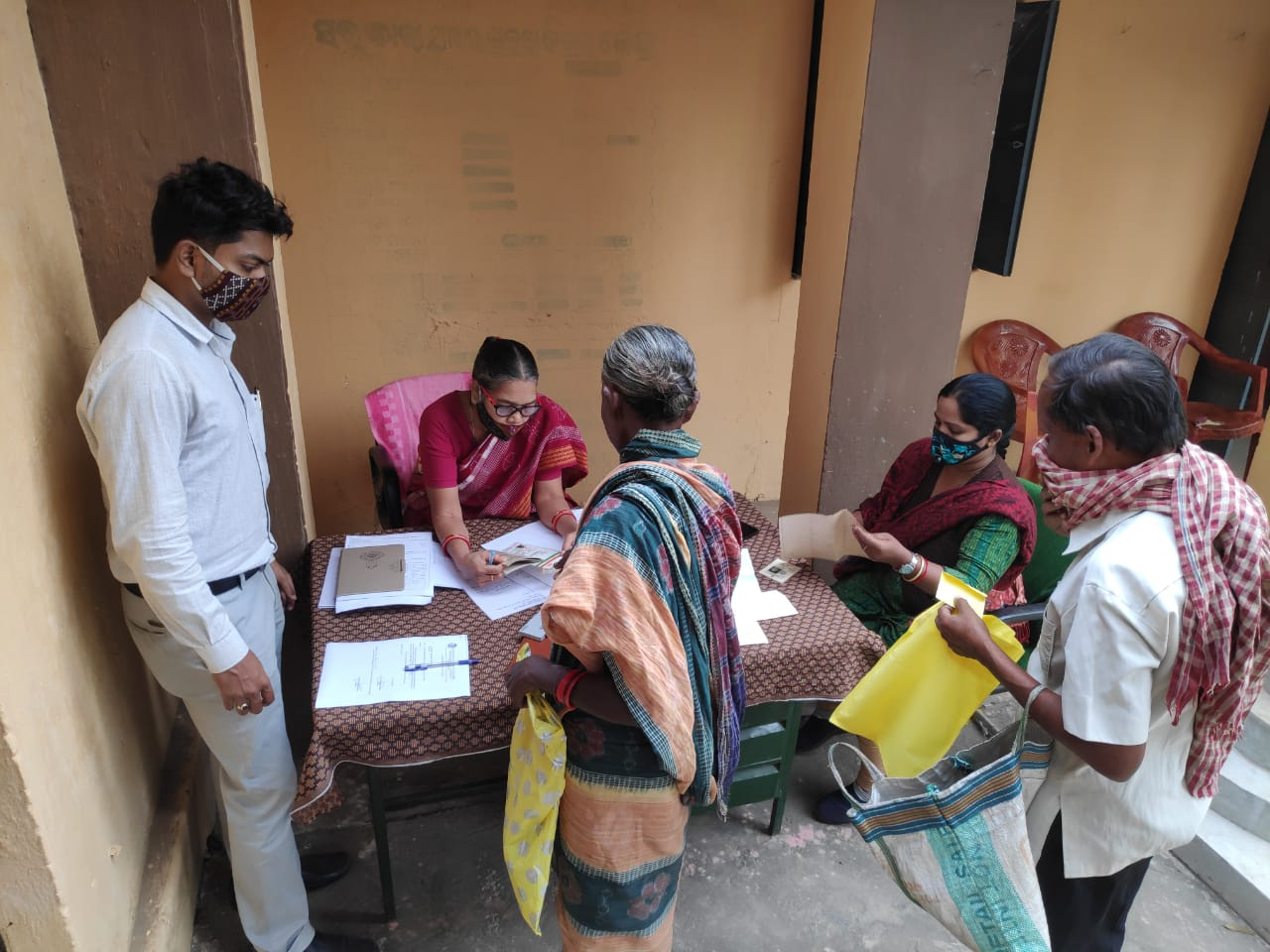 Aadhar collection, updation camp